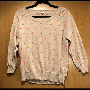 J Crew 3/4 Length sleeve sweater.  Size small
